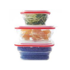 These collapsible containers are ideal for space-saving storage. #design #product #industrial #modern #lifestyle