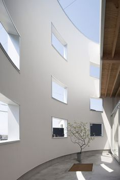 Windows. House in Hikone by Tato Architects. #window #skylight #tatoarchitects #minimal