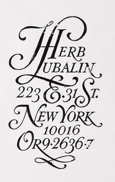 Herb Lubalin, The Master #typograpy