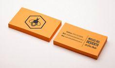Mieles del Desierto on the Behance Network #bee #orange #honey #stationery