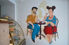 #wallpainting #mural #coffee #tea #cafe #painting