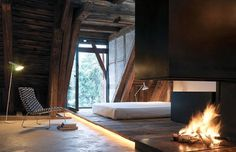 Vorstadt 14: Pictures #interior #attic #design #bedroom #wood