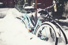 The cherry blossom girl #bikes #new #snow #york #winter