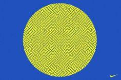 David Arias – Branding and Design / Freelance Graphic Designer / Vancouver, Canada / Nike, Maze Tee #maze #pattern #print #yellow #shirt #fashion #blue