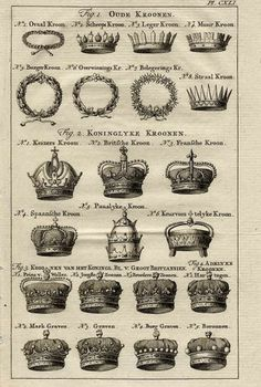 TIARA / vintage crowns #design #graphic #illustration #vintage #poster