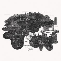 Vesa Sammalisto #london #illustration #map