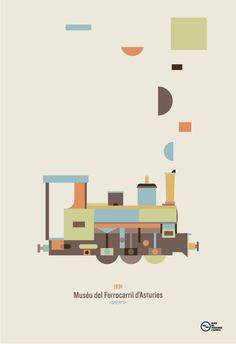 museo del ferrocarril de asturias on Behance #train #illustration #poster