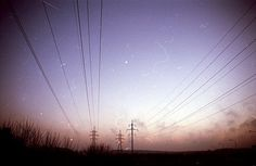 All sizes | tudienu | Flickr - Photo Sharing! #vignette #grain #sunrise #film #noise #powerlines