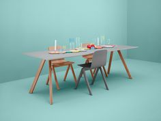 hay.dk #dining #wood #table #hay #pastel