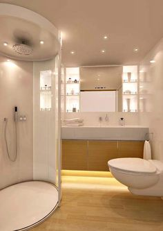 Modern yacht luxury toilet