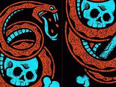 Dribbble - Pierce The Veil - Skull N Snake by Clark Orr