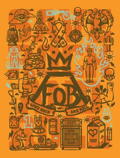 Fall Out Boy Poster #boy #illustration #fall #out