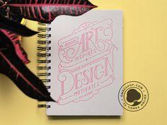 OmbuShop Notebook. #lettering #letterpress #design #quotes