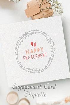 engagement wishes card etiquette