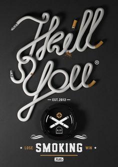 Noeeko Studio #cigarette #smoking #type #typography