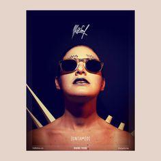 #poster #paper #wild #rhino #sunglasses