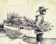 The Natural and Urban Collide in the Drawings of Pat Perry