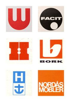 Friday find: Scandinavian logos from the 1960s & 70s #design #1960s #1970s #logo #scandinavian