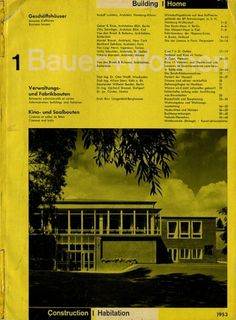 Bauen+Wohnen: Volume 02, Issue 01 | Flickr - Photo Sharing! #graphic design #typography #swiss #grid #magazine cover #bauen+wohren