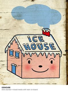 Funhouse57 - Now Showing - Mixed Media #design #art #painting #cute #type #illustraiton #drawing #typography
