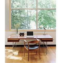 desk #sharp #handcrafted #modern #edges #clean #wood #desk #window #light