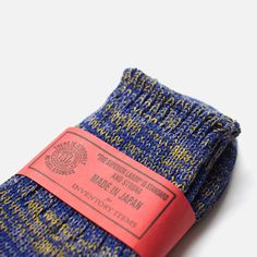 Inventory Item 011: Short Melange Socks Royal #packaging #stamp #label