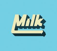 The Phraseology Project #inspiration #lettering #design #milk #type #typography