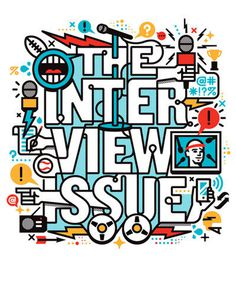 ESPN Interview Issue Matt Lehman Studio #lehman #matt #studio #typography