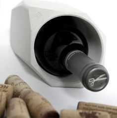 Concrete Wine Cooler by Francisco Corvi concrete wine cooler 1 #concrete #cooler #design #wine #product