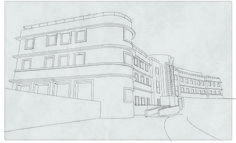 Morecambe #line #morecambe #retro #illustration #architecture #morcambe #art #deco #work #england