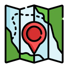 See more icon inspiration related to map, maps and location, location pin, map pointer, map point, map location, placeholder, route, pointer, guide, maps, orientation, folded, pin, paper and location on Flaticon.