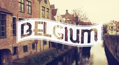 Europe in Typography – Fubiz™ #type #belgium #europe #typography