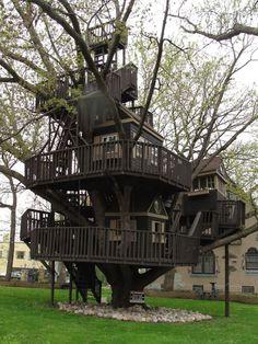 St Louis Park, Mn Historical Trucker Treehouse. #treehouse