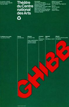 Theater poster designed by Gottschalk+Ash (1972) #design #graphic #poster