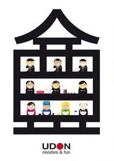 UDON poster - Jacint Cabau Works #udon #noodlesfun #illustration