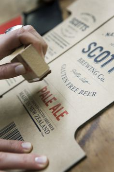 mcmillianfurlow: By Penny Dombroski. | MyFonts #packaging #beer #ale #typography