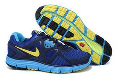 Mens Nike LunarGlide+ 3 Wet blueVolt Shoes