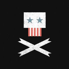 Tymn Armstrong #america #illustration #ribbons #skull