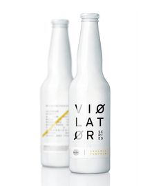 Violator #packaging #drink #label #bottle