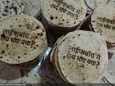 Edible Branding Roti Reminds to wash handsindia