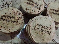 Edible Branding Roti Reminds to wash handsindia