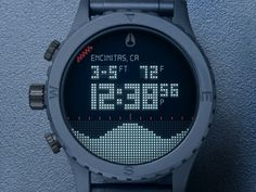 Dribbble - The NIXON Digital Tide 51-30 Watch by Dann Petty #awesome