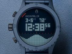 Dribbble - The NIXON Digital Tide 51-30 Watch by Dann Petty #awesome