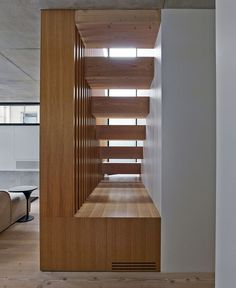 Two Storey Concrete and Timber Frame House - #stairs, #staircase, #stairway, architecture, stairs