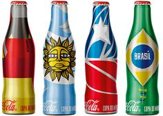Brazilian street artist and a Leeds design studio created Coke's World Cup identity #packaging #brazil #world #cup