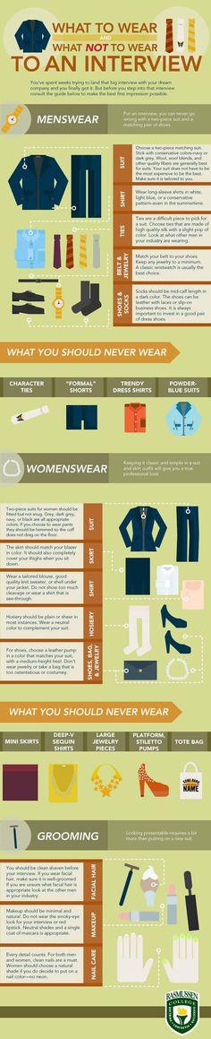 Job Interview Dress Code #infographic