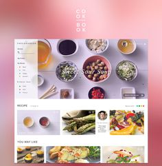 cook book training stuff #inspiration #ux #design #ui #web