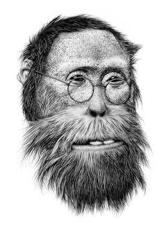 Violaine & JeremynFeuilleton.. http://off-the-wall-b.tumblr.com/tagged/animalistic #illustration #animal #monkey