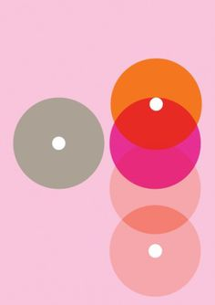 Print-Process / Product / Pink dots 3 #pink #orange #poster