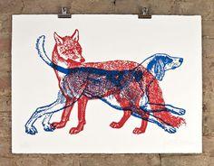 patrick thomas • fox and hound • £150.00 #print #poster #illustration